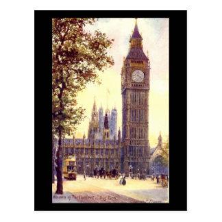 古い郵便はがき-ロンドン、ビッグベン ポストカード