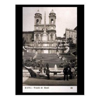 古い郵便はがき-ローマのスペインのなステップ ポストカード