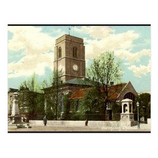古い郵便はがき-古い教会、チェルシー、ロンドン ポストカード