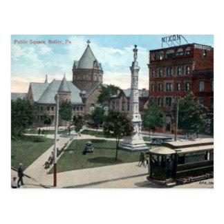 古い郵便はがき-執事、ペンシルバニア ポストカード