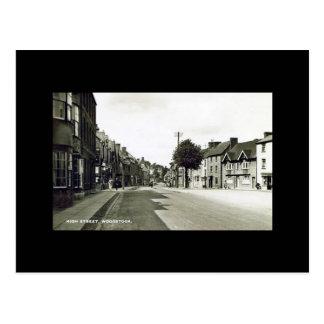 古い郵便はがき-本町通り、Woodstock、オックスフォードシャー ポストカード