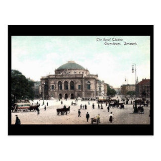 古い郵便はがき-王室のな劇場、コペンハーゲン ポストカード