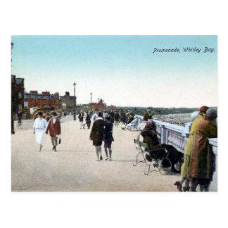 古い郵便はがき-遊歩道、Whitley湾 ポストカード