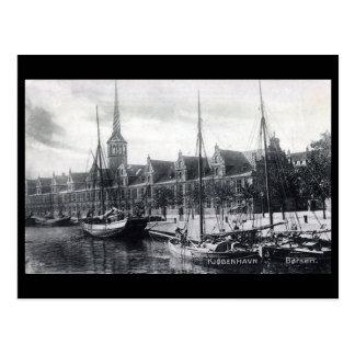 古い郵便はがき- Borsen、コペンハーゲン ポストカード