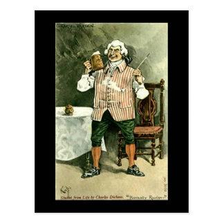 """古い郵便はがき、Dickens、""""Barnaby Rudge """" ポストカード"""