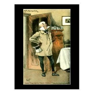 古い郵便はがき、Dickens、CopperfieldのMicawber氏 ポストカード