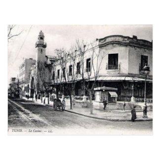 古い郵便はがき- Le Casino、チュニス ポストカード