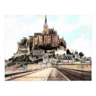 古い郵便はがき- Mont Stマイケル、マンシュ、Normandie ポストカード