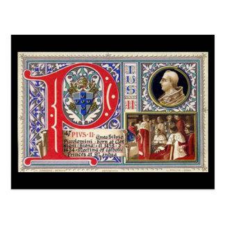 古い郵便はがき- Pius法皇II ポストカード