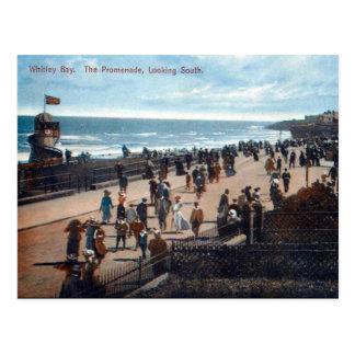 古い郵便はがき- Whitley湾 ポストカード