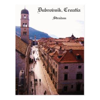 古い都市ドゥブロブニク- Stradun ポストカード