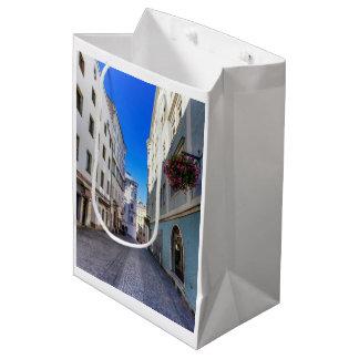 古い都市、リンツ、オーストリアの通り ミディアムペーパーバッグ