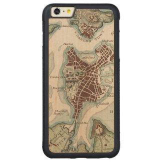 古い都市maps2 CarvedメープルiPhone 6 plusバンパーケース