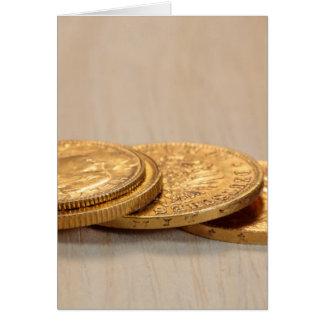 古い金貨 カード