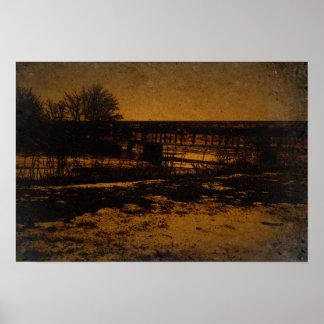 古い鉄道橋 ポスター