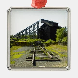 古い鉱山 メタルオーナメント