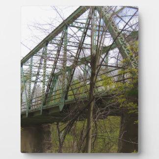 古い鋼鉄橋 フォトプラーク