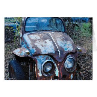 古い錆ついた車、ユーモア カード