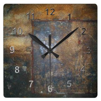 古い錆 スクエア壁時計