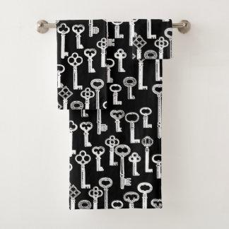 古い鍵パターンの多く バスタオルセット