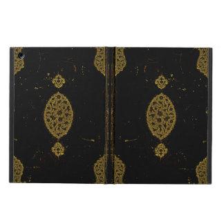 古い革および金ゴールドの表紙のオリジナル iPad AIRケース