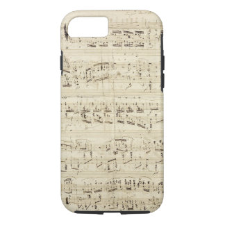 古い音楽ノート-ショパン音楽シート iPhone 8/7ケース