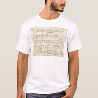 古い音楽ノート-ショパン音楽シート Tシャツ