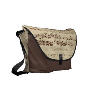 古い音楽ノート- Bach音楽シート クーリエバッグ