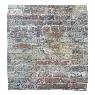 古い風化させたレンガ壁の質 バンダナ