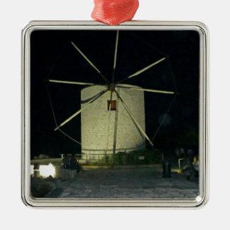 古い風車 メタルオーナメント