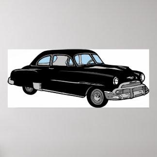 古い1950年のヴィンテージのChevyの車クラシック! ポスター