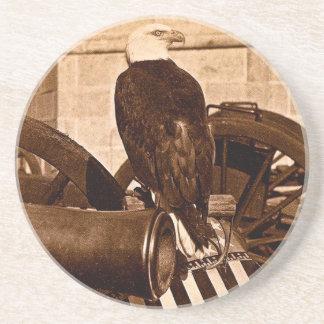古いAbeのウィスコンシン戦争のワシのヴィンテージ1875年 コースター