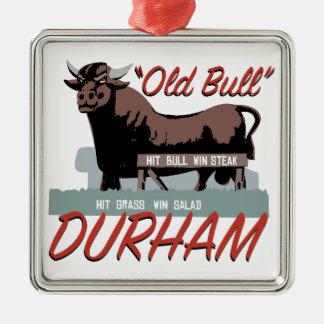 古いBullダラム メタルオーナメント