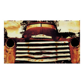古いChevyの農業のトラック ポスター