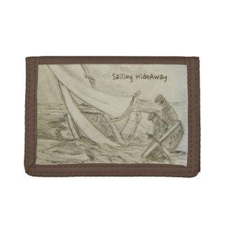 古いGafferの悪天候の航行の財布