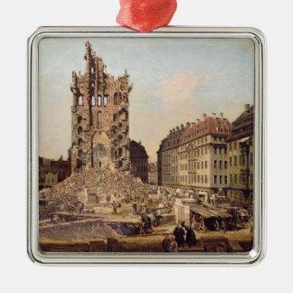 古いKreuzkirche、ドレスデンの台なし メタルオーナメント