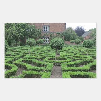古いMoseleyホールの結び目の庭 長方形シール