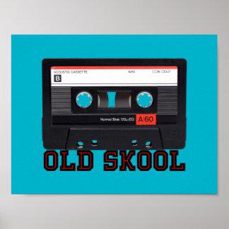 古いSkool -カセットテープ ポスター