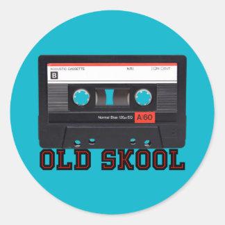 古いSkool -カセットテープ ラウンドシール