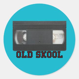 古いSkool - VHSテープ ラウンドシール