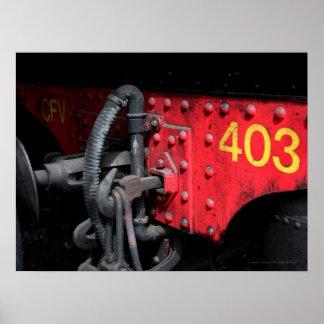 古いSteam Train Le Mastrou 403の蒸気機関ポスター ポスター