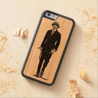 古いTimeyの紳士のiPhone6ケース CarvedチェリーiPhone 6バンパーケース