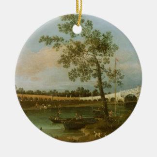 古いWaltonの橋1755年(キャンバスの油) セラミックオーナメント