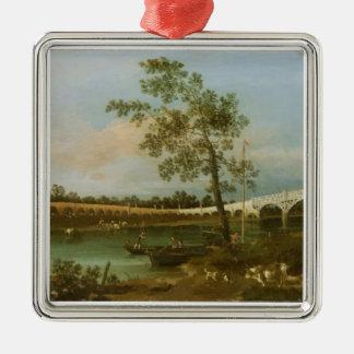 古いWaltonの橋1755年(キャンバスの油) メタルオーナメント