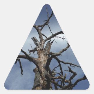 古くしかし誇りを持った 三角形シール