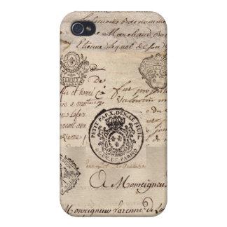古くフランスのな文書 iPhone 4/4S CASE