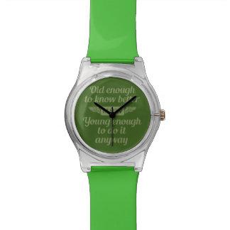 """""""古く及び若い""""カスタムなモノグラムの腕時計 腕時計"""