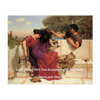 古く古い物語のギリシャ人のカップル ポストカード