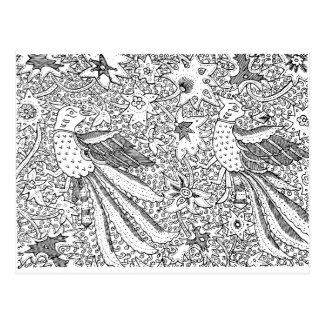 古く抽象的な織物の自然パターン ポストカード