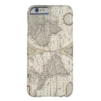 古く旧式なヴィンテージの世界地図 BARELY THERE iPhone 6 ケース